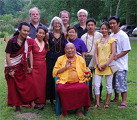 Rinpoche with students after Chod Empowerment