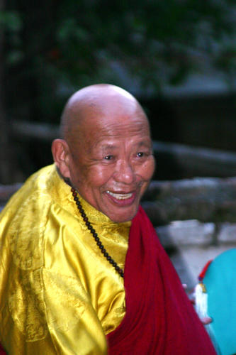 Rinpoche during Chod